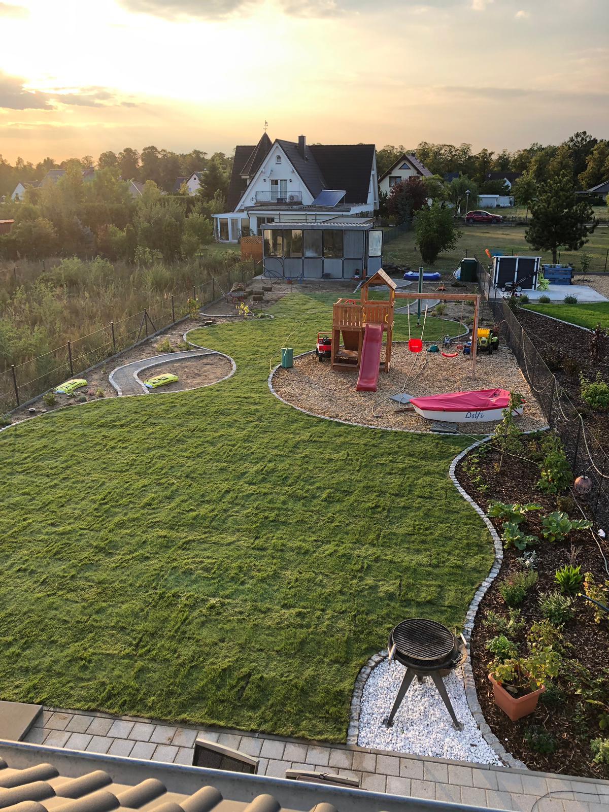 Gartengestaltung - Bauphase neu Gestaltung